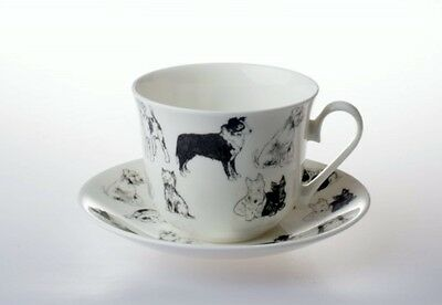 Roy Kirkham Dog Lovers Bone China Large Breakfast Cup & Saucer Gift Box