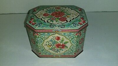 Daher Floral England Hinged Tin Box