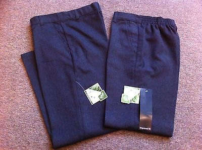 2 X Pairs New /tags Grey School Trousers Teflon Fabric  Protector   Age 9-10