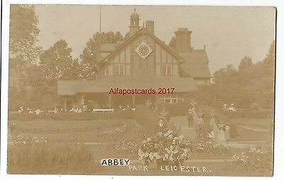 Leicester Abbey Park 1910 Real Photo Vintage Postcard 17.1