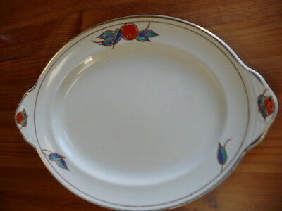 Charming Art Deco Gray & Co Hand Painted Oval Plate