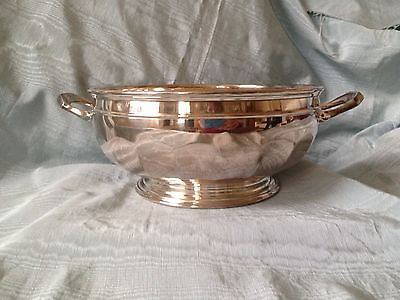 Beautiful Silver Plate Vintage Classic Trophy Rosebowl Cup