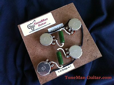 guitar wiring kit for gibson les paul long shaft pots cts pots 50 s wiring harness fits gibson les paul pio vintage tone caps long shaft pots