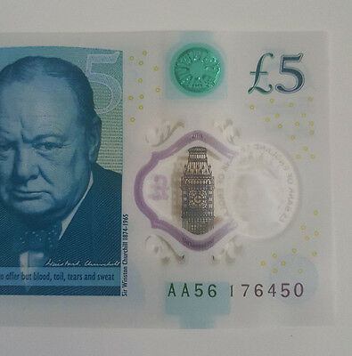 New £5 Note AA56 176450