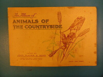 John Player & Sons An Album Of Animals Of The Countryside.49/50 Cigarette Cards