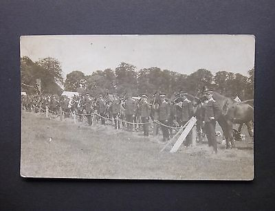 Hertfordshire Military 1909 KEVII 1/2d View of Camp RP Postcard BERKHAMSTED d/c