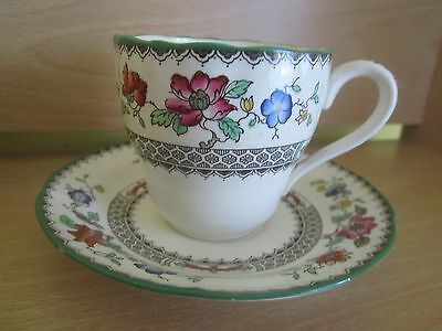 Copeland Spode Demitasse Cup And Saucer Chinese Rose