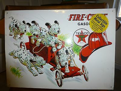 collectable metal sign texaco with dalmations