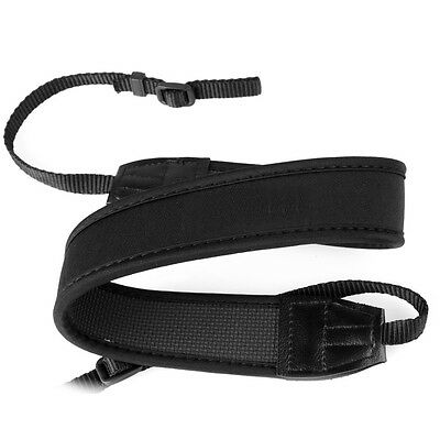 Shoulder Neck Strap for Camera Black anti-slip weight reducing neoprene strap