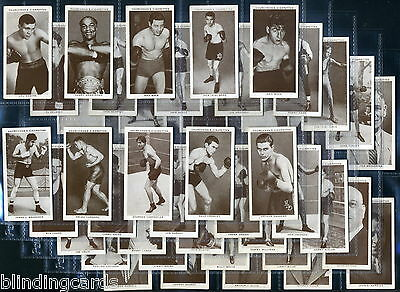 CHURCHMAN'S Cigarette Cards BOXING PERSONALITIES - 1938 - Louis Johnson Dempsey
