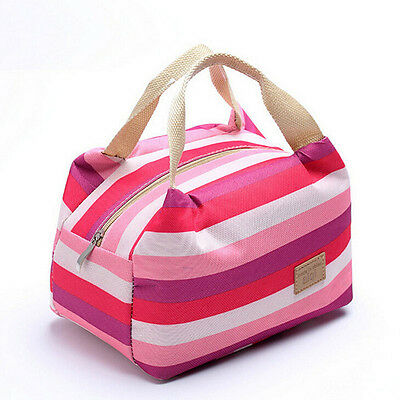 Picnic Insulated Food Storage Zipper Box Bag Tote Bento Pouch Lunch Container UK