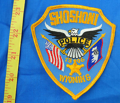 Police Shoshoni Wyoming Embroidered Cloth Patch Light Blue