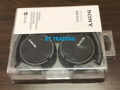 Sony Genuine MDR-ZX110 Stereo Swivel Headphone Black MDRZX110 - NEW