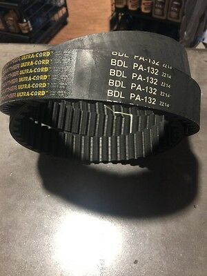 """New Rear Drive Belt Panther Ultr-Cord Bdl-Pa-132 132 Tooth 1 1/2"""" 40023-86"""