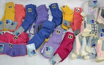 Vtg 1970's Lot of 59 prs Ladies Mercerized Cotton Socks Asst Style SPRINGFOOT