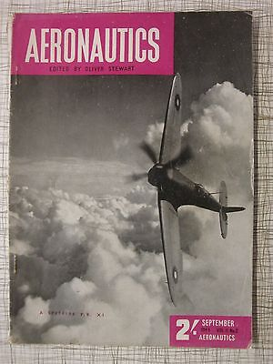 Aeronautics Sep 44: Spitfire, Flying Bomb, Fairey Swordfish, Barracuda, Albacore