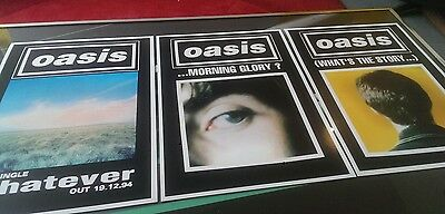 Oasis set of 3 prints/posters size A3 super quality heavy 300gsm art paper
