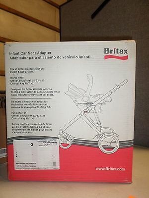 Britax Infant Car Seat Adapter Frame S842900 Fits All Britax Click & Go Stroller