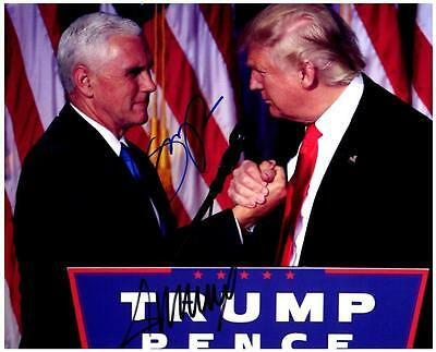 Donald Trump and Mike Pence Signed 8x10 Photo Picture Autographed