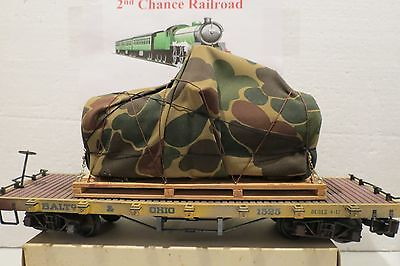 G Scale trains Bachmann Baltimore Ohio Flat Car with US Navy Pallet Load