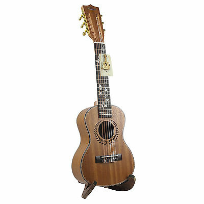 "28"" Guitalele Guitarlele Travel Guitar Pinus Koraiensis Sieb Body EQ Gig Box US"