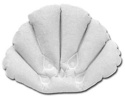 deluxe white inflatable terry towell bath pillow relaxation