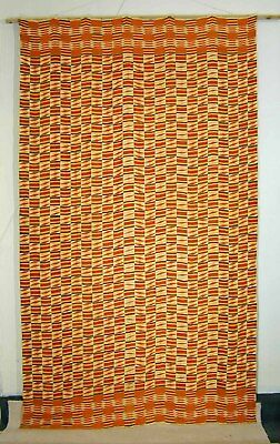 Ethnic traditional handwoven KENTE textile from Ghana Africa 1940's