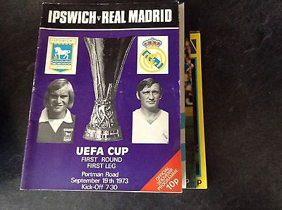 Ipswich Town V Real Madrid  19/11/73  UEFA Cup  Rd1 1st-leg