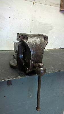 VINTAGE BENCH VICE 175mm WODEN 190A/9A INDUSTRIAL HEAVY DUTY GOOD WORK COND