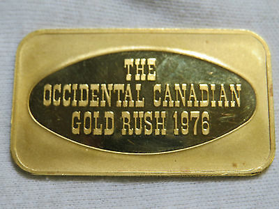 1 oz GOLD BAR JOHNSON MATTHEY & MALLORY CANADA THE OCCIDENTAL CANADIAN GOLD RUSH