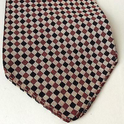 1950's vintage red check tie