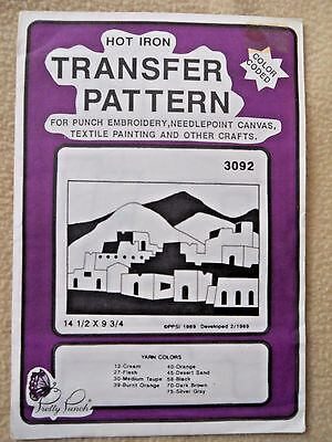 Vintage 1989 Pretty Punch Hot Iron transfer Pattern for crafts / Mexican  scene