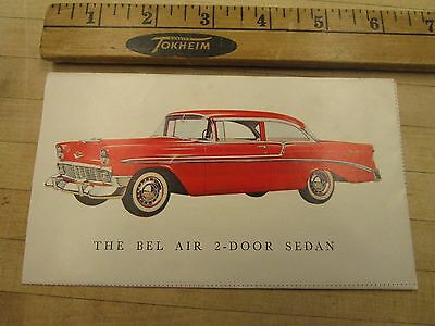 1956 Chevrolet Bel Air  ORIGINAL  Brochure