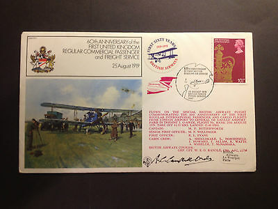 RAF FIRST FLIGHT SERIES FLOWN & SIGNED COVER FF7c