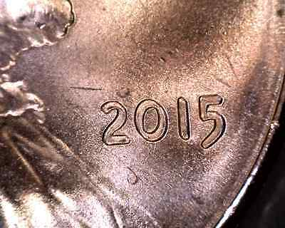 2015 double die Lincoln's cent  BU
