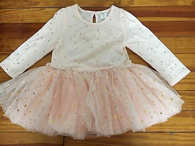 babyGap 18-24 Months Toddler Girl Dress Pink With Stars, NWT!