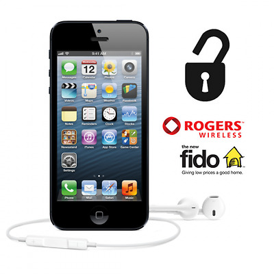 ROGERS FIDO FACTORY UNLOCK Service iPhone 4s 5 5c 5s 6 6+ 6s 6s+ SE 7 7+ Express
