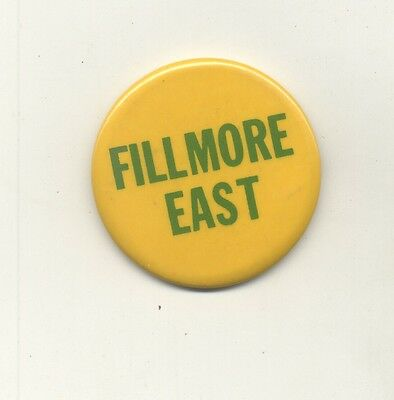 FILLMORE EAST Staff-Issue PINBACK BUTTON circa 1968 Bill Graham