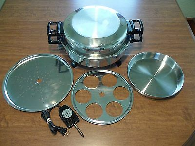 """Kitchen Nutrition Waterless Regal Ware Oil Core Electric Skillet Lid 12"""" USA"""