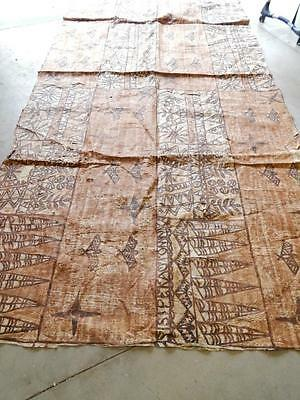 Giant Room Size Vintage Hawaii South Seas Islands Fiji Tonga Polynesian Tapa