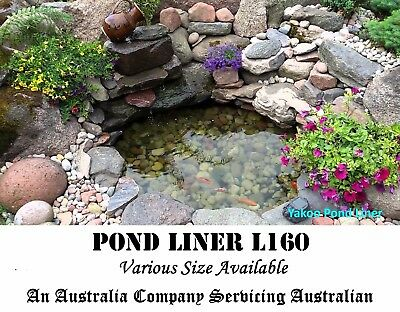 Fish Pond Liner 2mX4m L160 Reinforced HDPE Heavy Duty 20 Yr Guaranty Landscaping