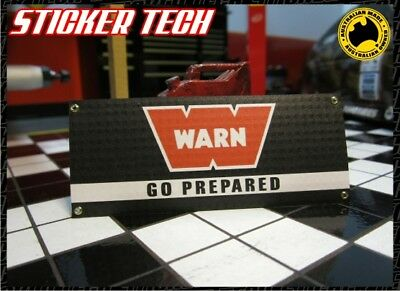 1/10 Scale Warn Winches Garage Work Shop Banner Suit Rc4Wd Rc Crawler Crawl