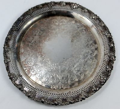 Vintage Serving Tray Platter Silver Plated EP Copper Wm A Rogers B M MTS 6157
