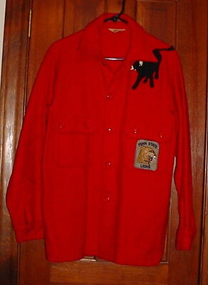 Official Boy Scout of America Red Wool Jacket w/ Philmont Bull