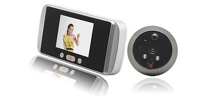 Smart Door Peephole Viewer,2MP Camera+Touch Screen+GSM Alarm+Motion Detection