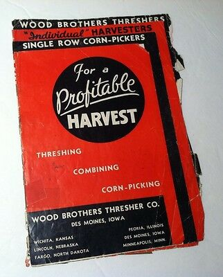 Wood Brothers Thresher Co advertising brochure antique farm equipment