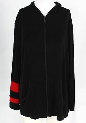 New With Tags Women's CHICO'S Black Zip Up Jacket Size 2