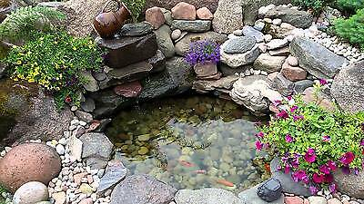 Fish Pond Liner 4mX4m L160 Reinforced HDPE Heavy Duty 20 Yr Guaranty Landscaping