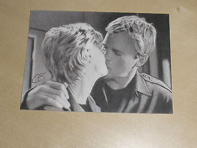 Stargate Sg-1 Jack O'neill Sam Carter Aceo Original Art Sketch Card By Summers D