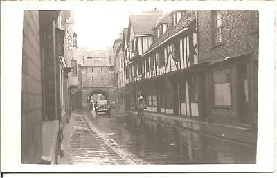 "Very Early  Postcard,""it Always Rains On A Sunday!""york,yorkshire,rp"